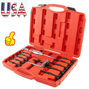 16pcs Inner Bearing Blind Hole Remover Extractor Puller Set Pilot Bushes Housing