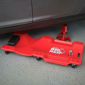 Big Red Trp6240 Torin Blow Molded Plastic Rolling Garage Shop Creeper 40 New