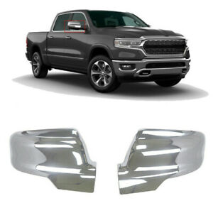 For 2019 2020 Dodge Ram 1500 Mirror Covers Chrome Side Cover Trim W turn Signal