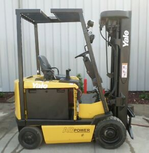 Yale Model Erc050gh 2005 5000 Lbs Capacity Great 4 Wheel Electric Forklift