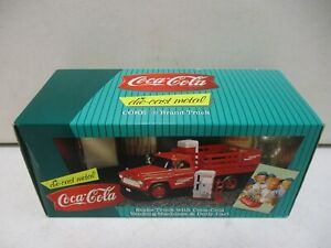 1996 Coca Cola Stake Truck with Coca Cola Vending Machines and Dolly Cart