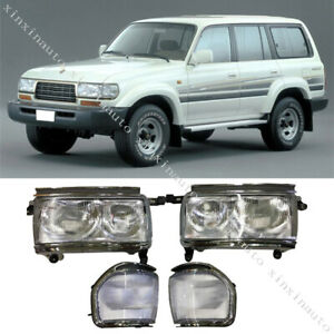 Front Headlight Conversion Kit 1991 1997 For Toyota Land Cruiser Fj80 Lc80 Lh Rh