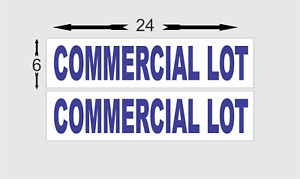 Commercial Lot Blue 6 x24 Real Estate Rider Signs Buy 1 Get 1 Free 2 Sided