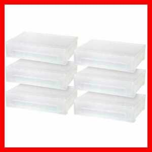 Iris Large Desktop Stacking Drawer 6 Pack Clear Home