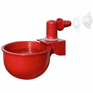 Automatic Chicken Water Nipple Cup Waterer Kit For Poultry pack Of 6 Garden