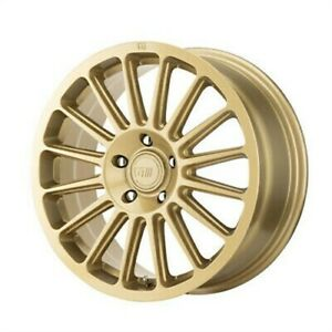 4 New 15x7 Motegi Mr141 Rally Gold Wheel Rim 5x100 Et15