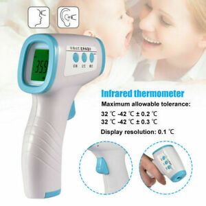 Lcd Digital Temperature Measuring Meter No Contact Infrared Forehead Thermometer