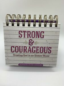 strong Courageous Trusting God In An Unsure World Perpetual Calendar Faith