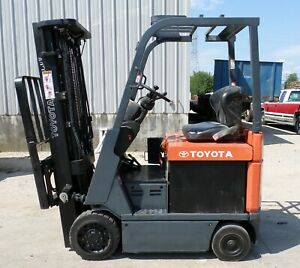 Toyota 7fbcu15 2012 3000 Lbs Capacity Great 4 Wheel Electric Forklift