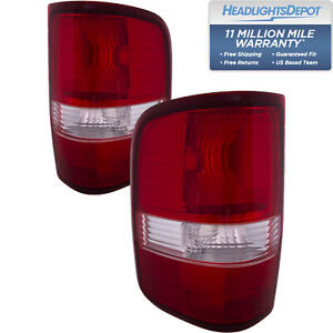 Tail Lights Set Non Flare Side Model New Style Fits 2004 2006 Ford F150 F250