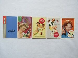 5 Coca-Cola Playing Cards from 1939  1951  {2} 1956  1961