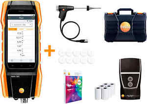 Testo 300 Commercial Combustion Analyzer With Long Life Sensors Printer And N