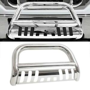 Bull Bar Push Brush Grille Guard For Toyota Tacoma 2016 2019 Chrome Stainless