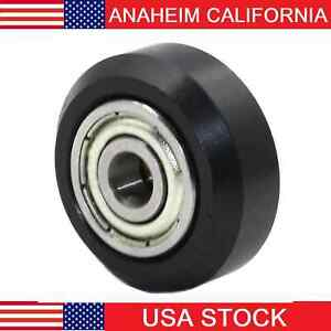 Linear Motion Guide Way 10x24x6mm Track Roller Bearing With Tire