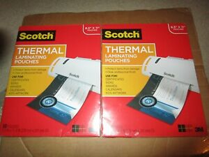 2 Pack 3m Thermal Laminating Pouches 8 5 X 11 50 Pack 100 Total Brand New