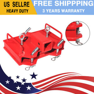2 Forklift Ball Hitch Attachments Trailer Receiver Fit For Dual Pallet Forks