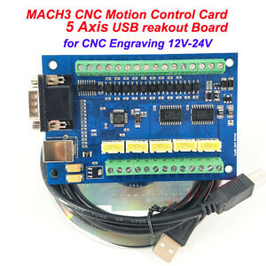Mach3 Cnc Motion Control Card 5 Axis Usb Cnc Breakout Board For Cnc 12 24v To16v
