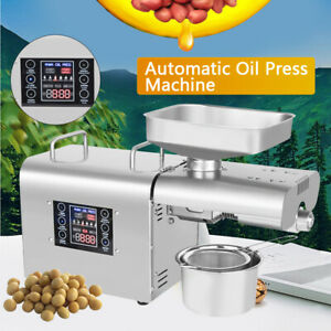110v 6 speed Commercial Auto oil Press Machine Lcd Olive Extractor Expeller Usa