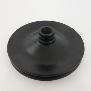 Black Early Gm Single Groove Power Steering Pump Pulley 3 4 Press Fit Design