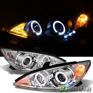 For 2002 2006 Toyota Camry Led Halo Projector Headlights Headlamps Left right