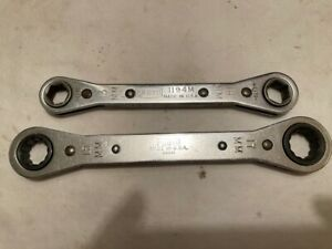 Proto Metric Made In Usa 2 Ratcheting Straight Wrenches 15mm 17mm 13mm 14mm