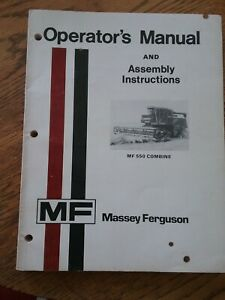 Massey ferguson Operator s Manual For 550 Combine Printed 5 78