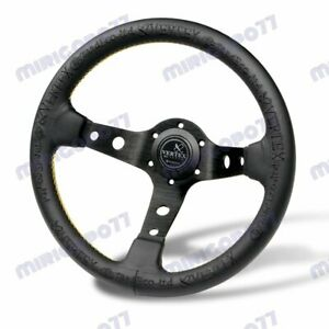Universal 13 Black Deep Dish Car Racing Drift Race Sport Vertex Steering Wheel