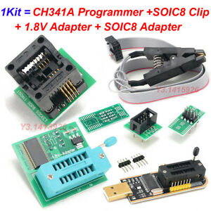 Eeprom Bios Usb Programmer Ch341a Soic8 Clip 1 8v Adapter soic8 Adapter Kit