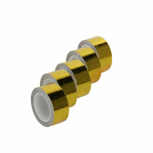 Car 1200 Continuous Gold Reflective Heat Shield Self adhesive Wrap Tape 5 Pcs