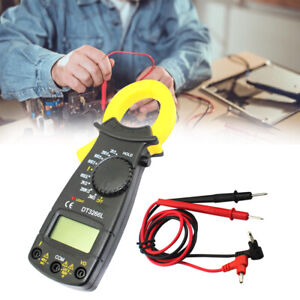 Lcd Digital Multimeter Clamp Dc ac Current Ohm Voltage Resistance Meter Tester