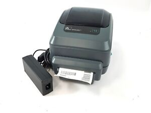 Zebra Gx430t Thermal Barcode Label Printer Gx43 102512 000 W Ac Adapter