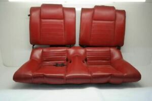 2005 2009 Ford Mustang Rear Seat Set Red