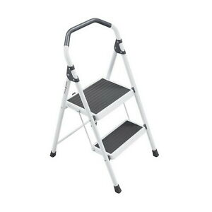 Gorilla 2 step Steel Lightweight Stool Ladder 225 Lbs Load Cap Type Ii Duty New