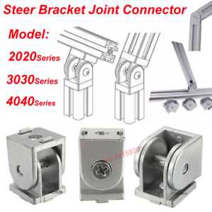 Steer Bracket Flexible Pivot Joint Connector For 2020 Aluminum Extrusion Profile