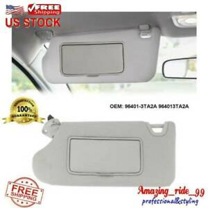 Driver Left Sun Visor Fit For Nissan Altima 2013 2014 2018 96401 3ta2a With Lamp