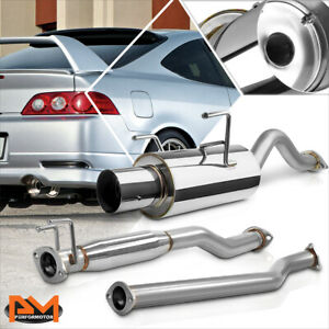 For 02 06 Acura Rsx Dc5 Type S K20 4 Tip Muffler Racing Catback Exhaust System