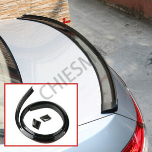 4 9ft Universal Car Rear Tail Trunk Spoiler Lip Top Roof Wing Trim Gloss Black