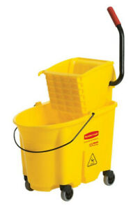 Plastic Commercial Mop Bucket With Wringer Wash Wringer Wet Floor Rubbermaid