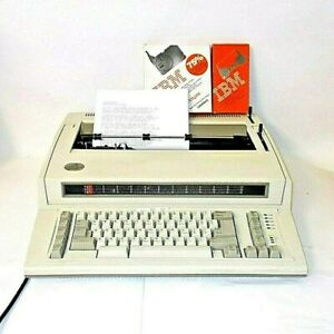 Ibm Personal Wheelwriter Electronic Typewriter 6781 With Printer Option Extras