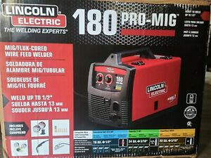 Lincoln Electric Pro mig 180 Welder 230v Mig Flux cored Wire Feed Model K2481 1