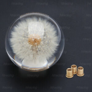 Universal 70mm Crystal Ball Dandelion Flowers Shift Knob Shift Head With Adapter