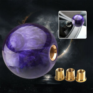 Purple Marble Ball Shift Knob 54mm For Shoort Throw Gear Shifter Universal Jdm