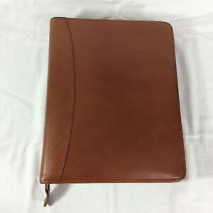 Distressed Full grain Leather Classic Franklin Covey Planner Binder Organizer