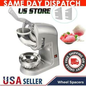 Electric Ice Crusher Shaver Machine Snow Cone Maker Shaved Ice 660 Lbs Summer Us