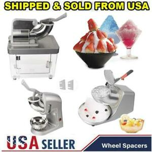 Ice Shaver Machine Snow Cone Maker Shaved Electric Crusher Shaving Commercial Us