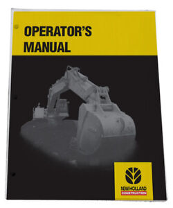 New Holland E27b Compact Excavator Owners Manual Operators Maintenance Book