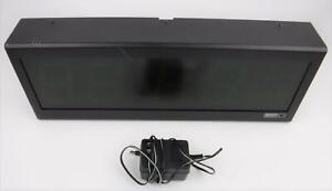 Spectracom Timeview 400 Display Clock 8177 With Power Supply Tested Working