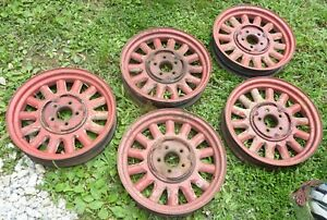 1933 33 Plymouth Deluxe Touring Sedan Wood Spoke Wheels Set Spare Red Mopar Oem
