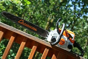 Used Piltz Conversion Stihl Ms180 Hot Saw 20 Inch Cannon Bar And Stihl Chainsaw