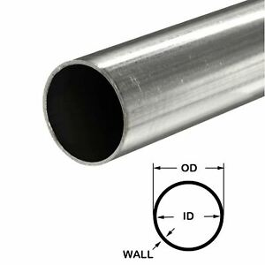 304 Stainless Steel Round Tube 1 2 Od X 0 028 Wall X 60 Long Seamless